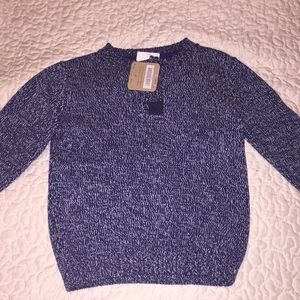 Blue and white toddler sweater